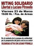 SANTIAGO, CHILE: MITING SOLIDARIO POR LA LIBERTAD DE LUCIANO PITRONELLO