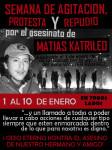 CHILE: SEMANA DE AGITACIÓN, PROTESTA Y REPUDIO POR EL ASESINATO DE MATÍAS CATRILEO