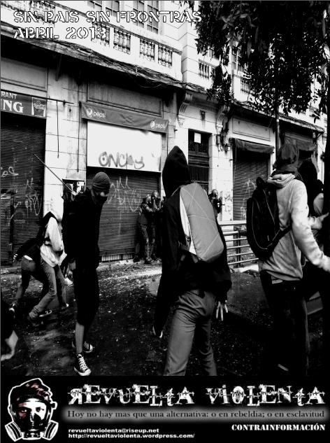 Revuelta Violenta Publicación Anarquica N°9 Portada