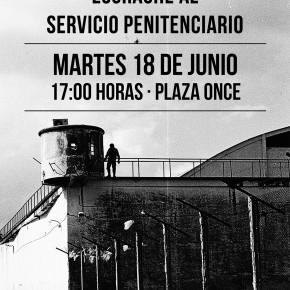 BUENOS AIRES, ARGENTINA: ESCRACHE AL SERVICIO PENITENCIARIO