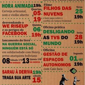 BRASIL: ESPACO DERIVA PROGRAMACAO JUNHO