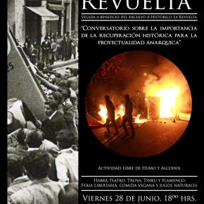 SANTIAGO, CHILE: VELADA EN APOYO DEL ARCHIVO HISTÓRICO LA REVUELTA