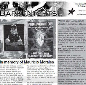 DARK NIGHTS #34 : 'IN MEMORY OF MAURICIO MORALES' – JUNE 2013 (ACN)