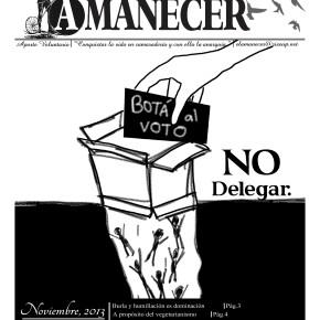 CHILLAN, CHILE: EL AMANECER, PERIÓDICO MENSUAL ANARQUISTA, Nº 26, NOVIEMBRE 2013