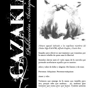 ARGENTINA: SALE GAZAKIA #7, NOVIEMBRE 2013