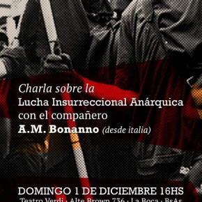 BUENOS AIRES, ARGENTINA: CONVERSATORIO CON ALFREDO M. BONANNO